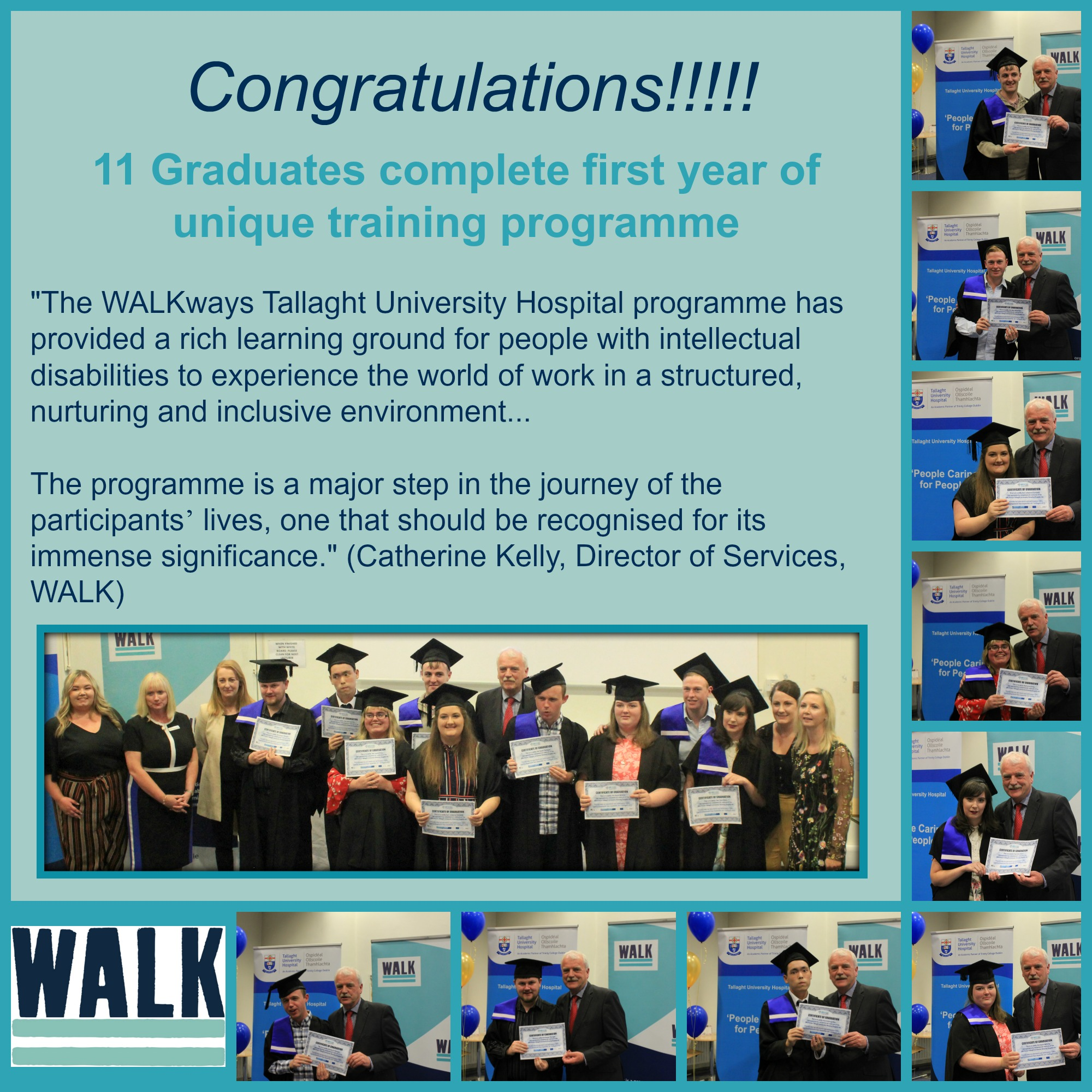 Graduation from WALKways Tallaght University Hospital Programme