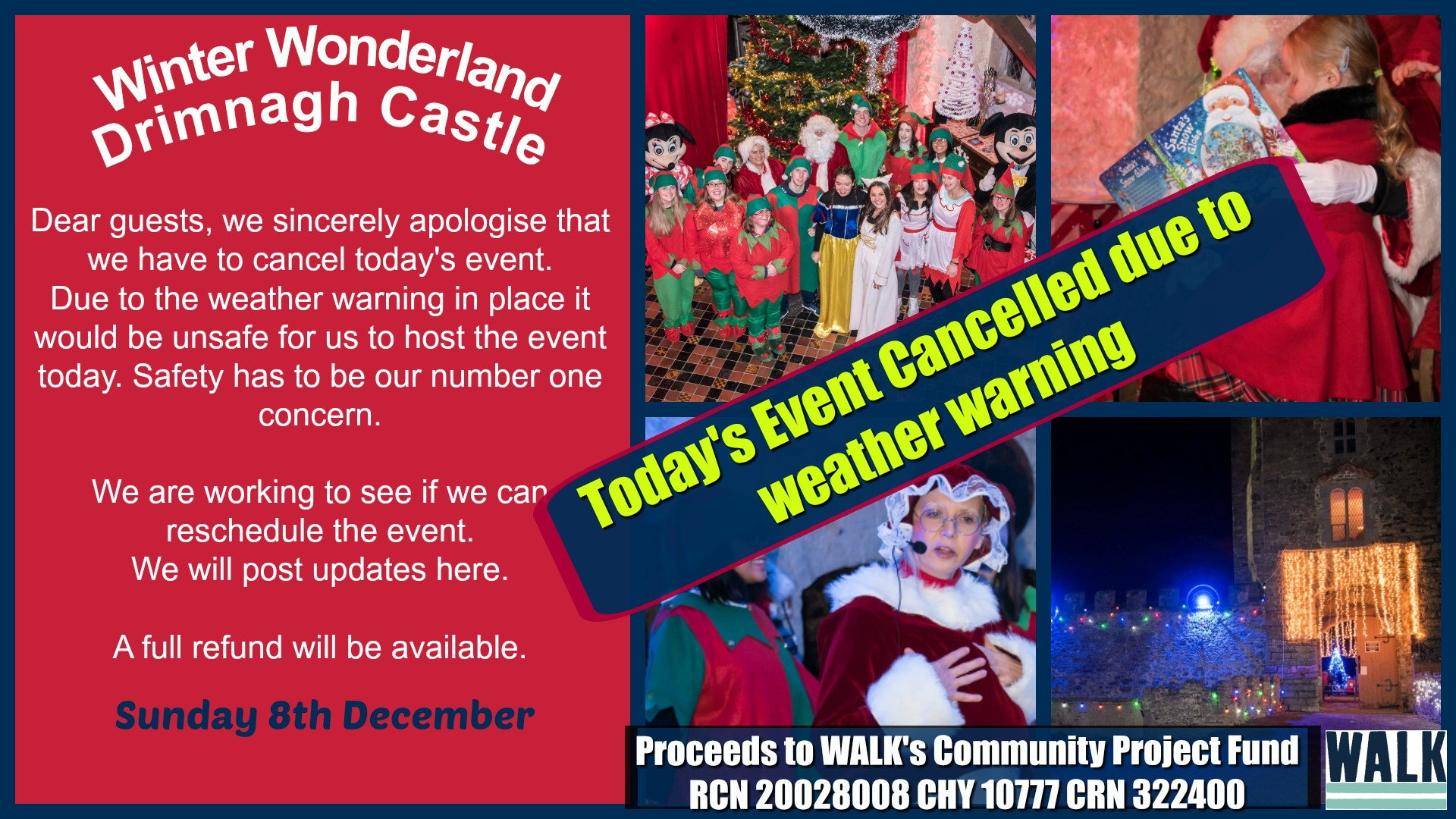 Cancellation WALK Winter Wonderland Sunday 8th December